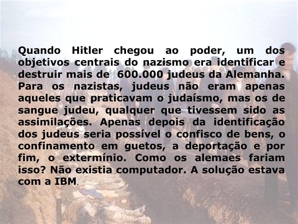 Quando Hitler chegou ao poder, um dos objetivos centrais do nazismo era identificar e destruir mais de 600.000 judeus da Alemanha.