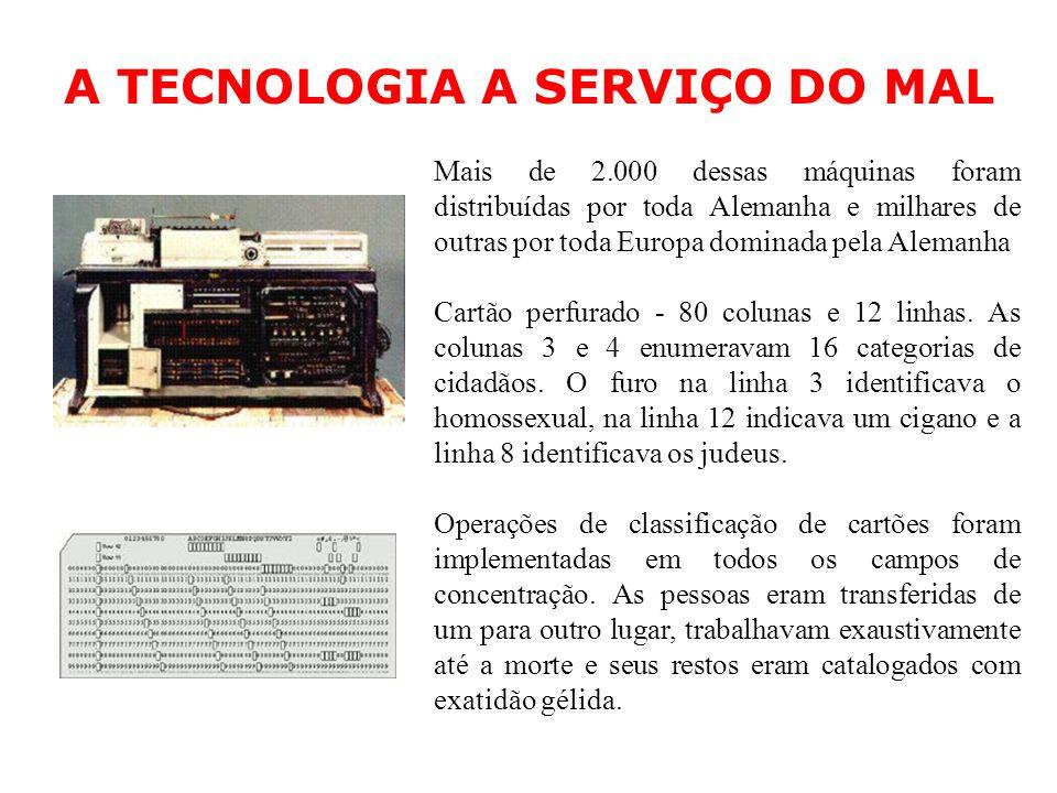 A TECNOLOGIA A SERVIÇO DO MAL