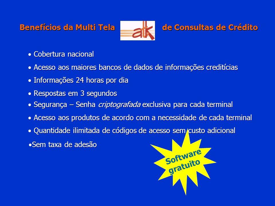 Benefícios da Multi Tela de Consultas de Crédito