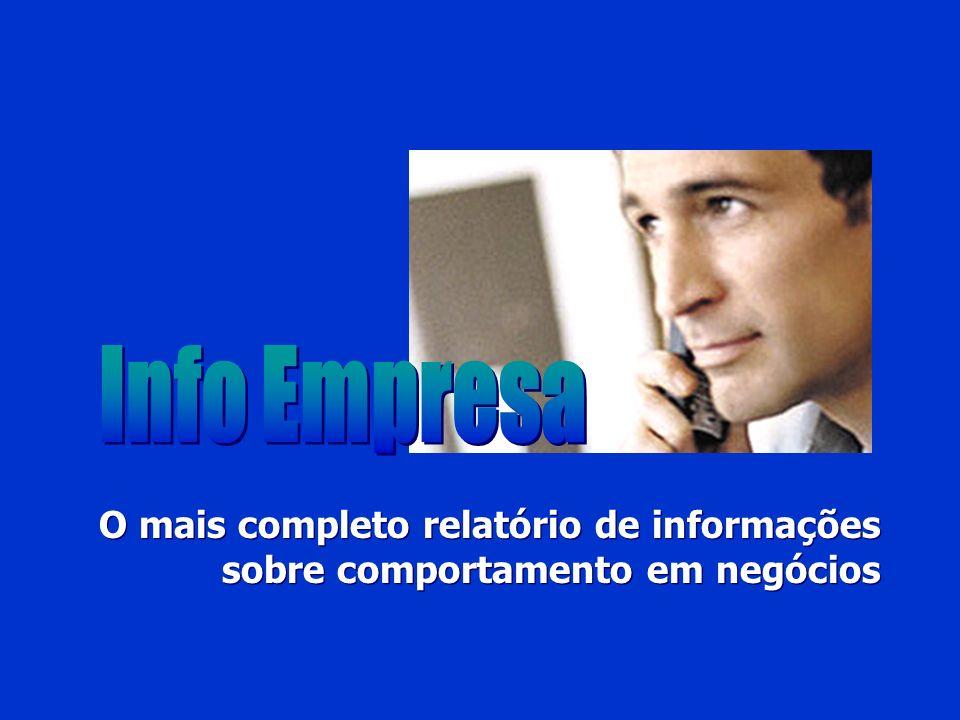 Info Empresa O mais completo relatório de informações sobre comportamento em negócios