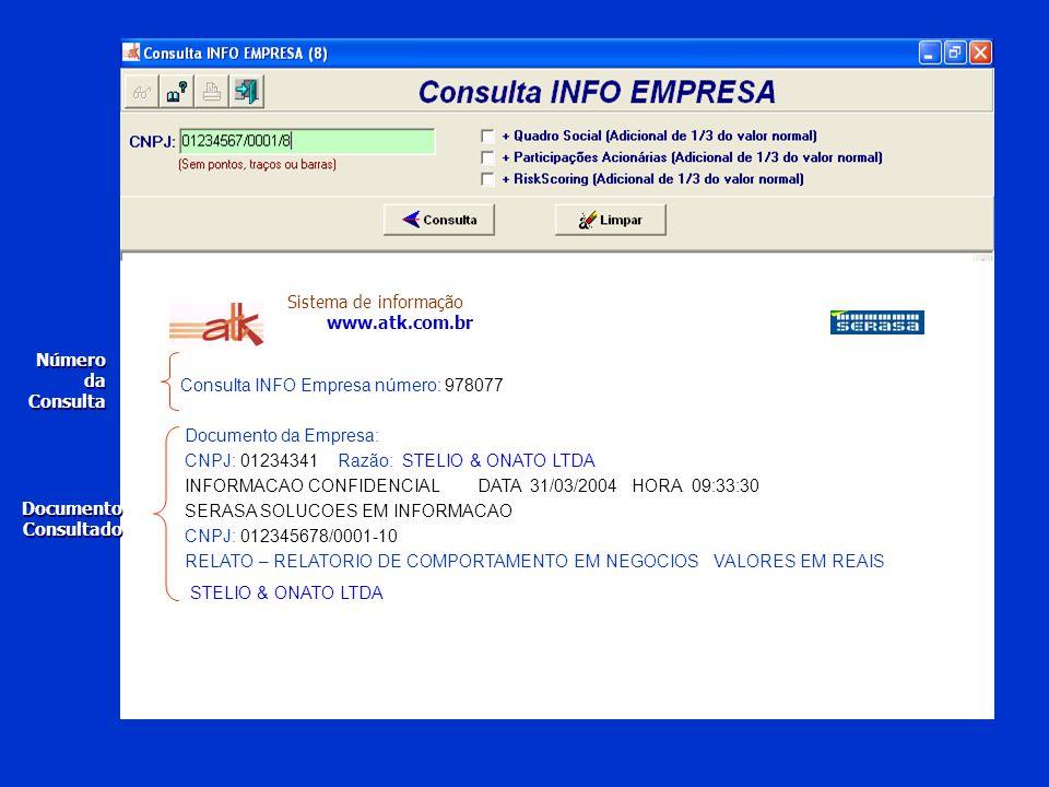 Sistema de informação www.atk.com.br