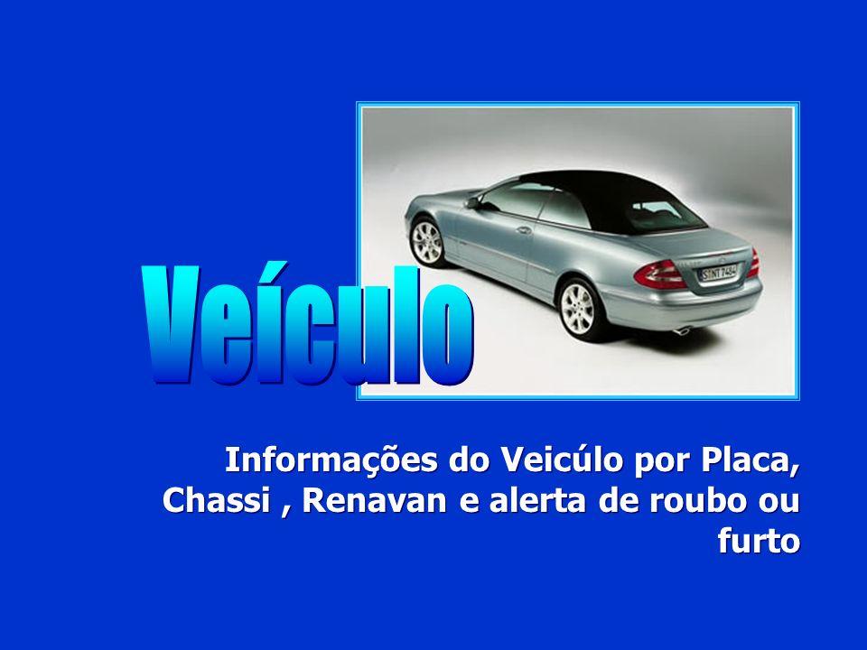 Veículo Informações do Veicúlo por Placa, Chassi , Renavan e alerta de roubo ou furto