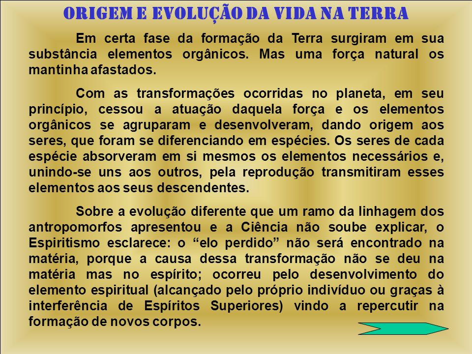 ORIGEM E EVOLUÇÃO DA VIDA NA TERRA