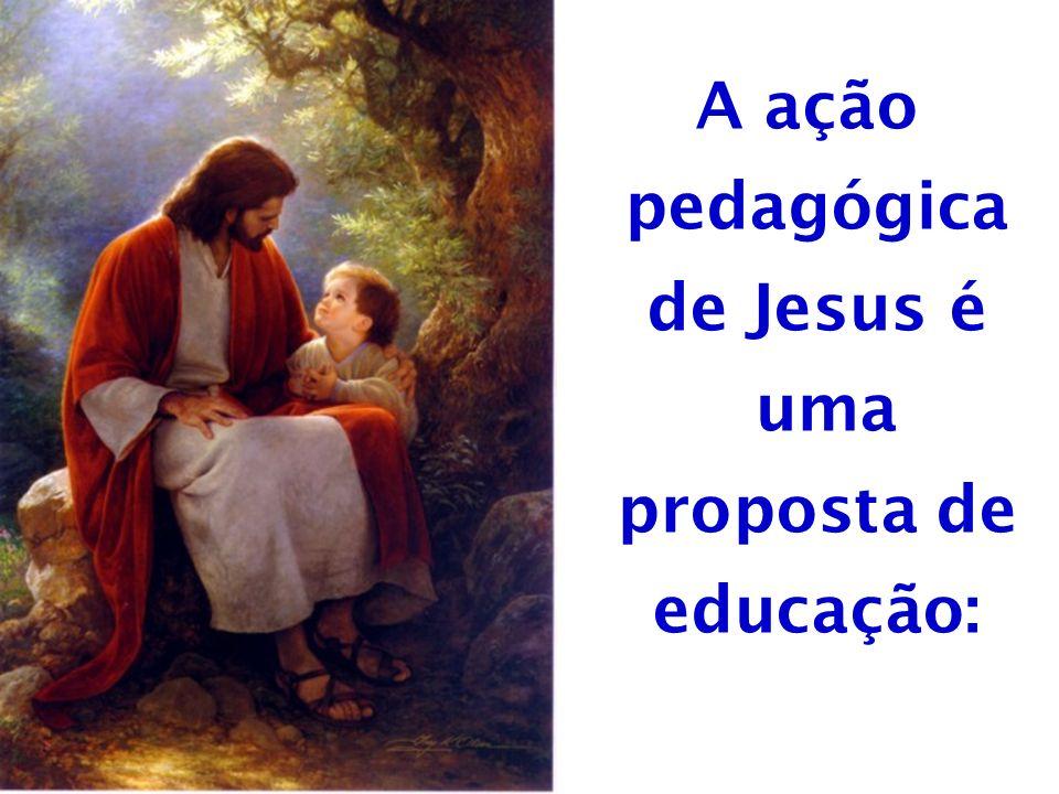 A ação pedagógica de Jesus é uma proposta de educação: