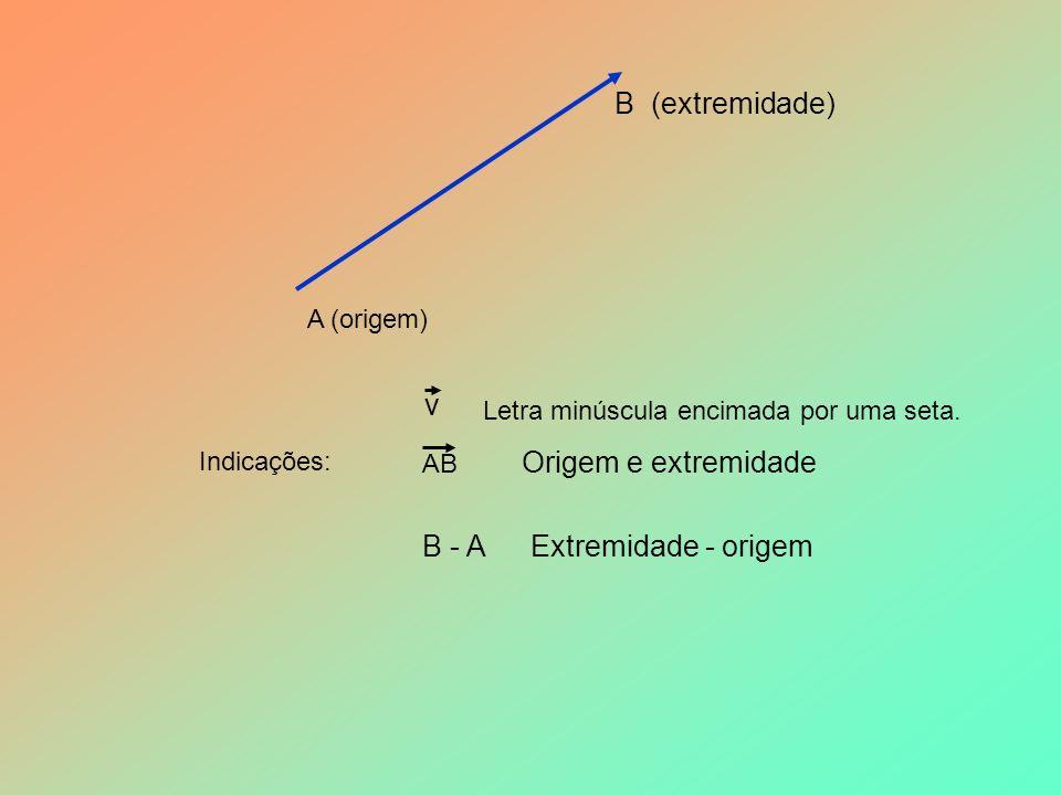 B (extremidade) v Origem e extremidade B - A Extremidade - origem