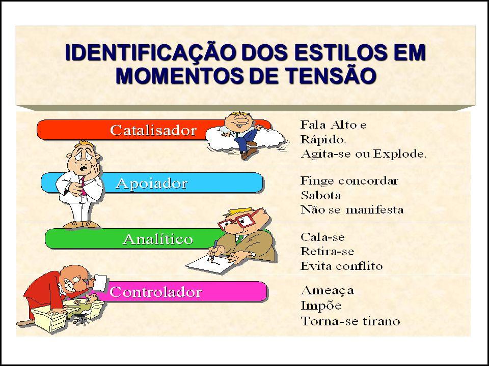 IDENTIFICAÇÃO DOS ESTILOS EM MOMENTOS DE TENSÃO