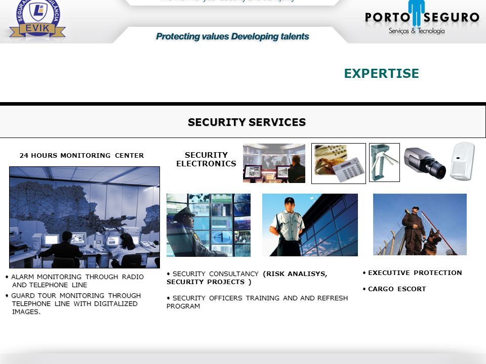 EXPERTISE SECURITY SERVICES SECURITY ELECTRONICS
