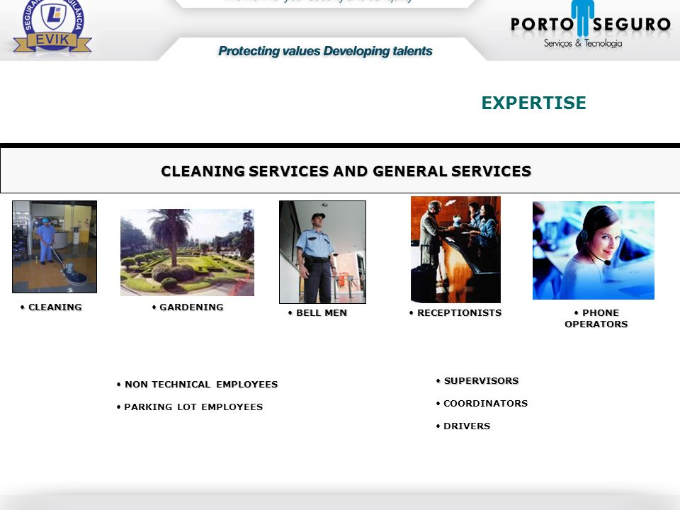 CLEANING SERVICES AND GENERAL SERVICES