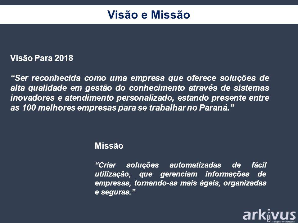 Visão e Missão Visão Para 2018