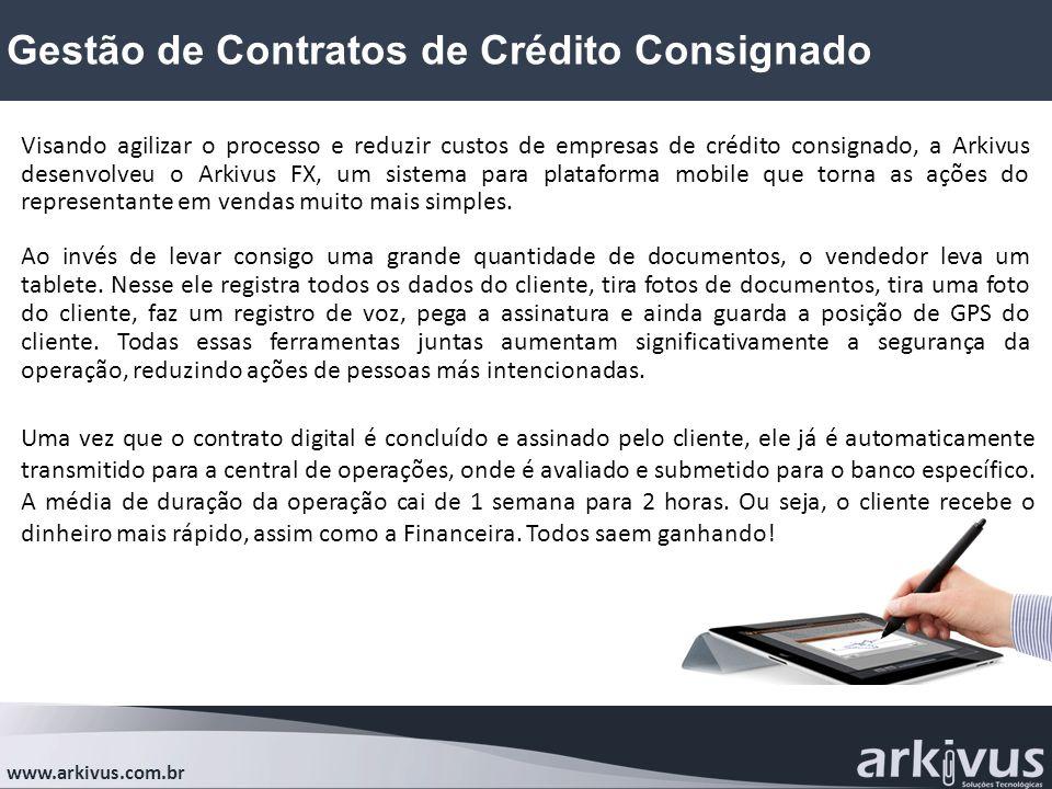 Gestão de Contratos de Crédito Consignado