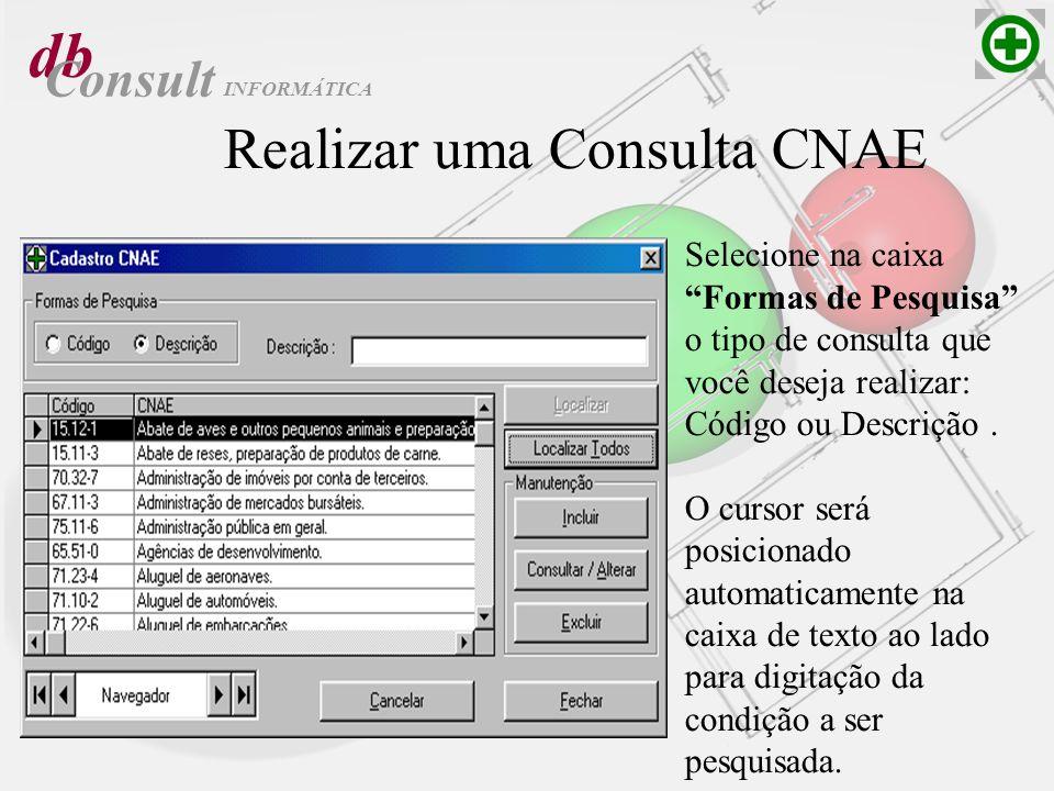 Realizar uma Consulta CNAE