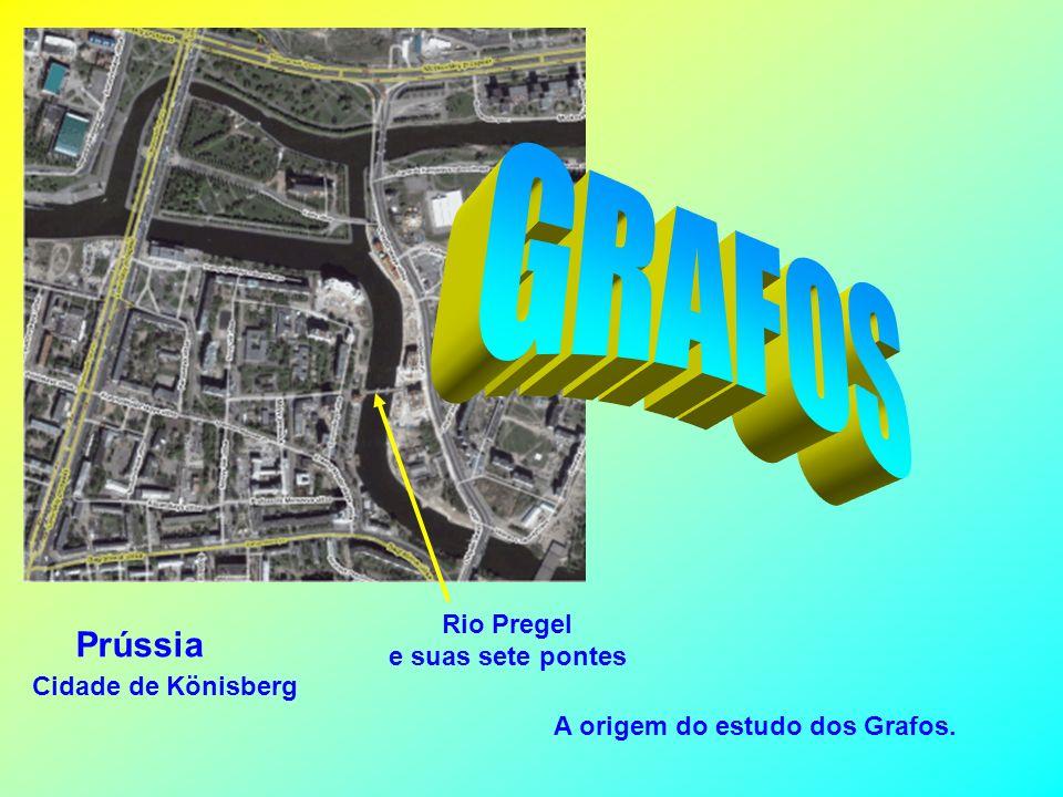 GRAFOS Prússia Rio Pregel e suas sete pontes Cidade de Könisberg