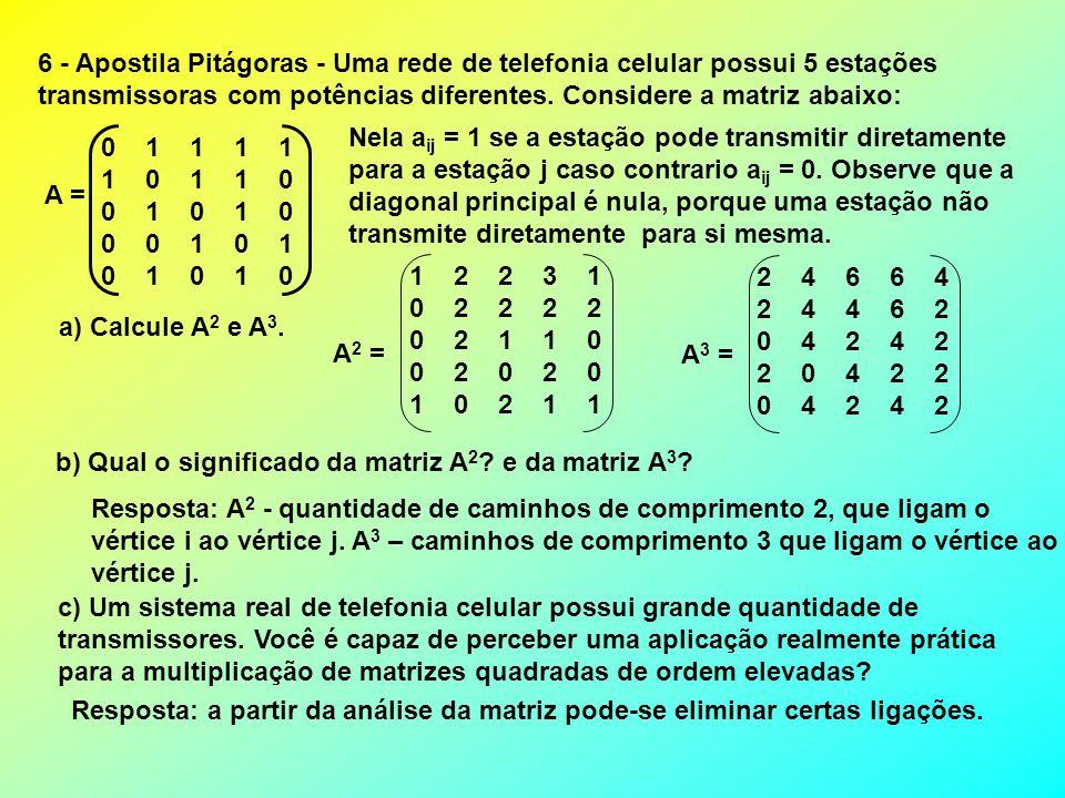 6 - Apostila Pitágoras - Uma rede de telefonia celular possui 5 estações