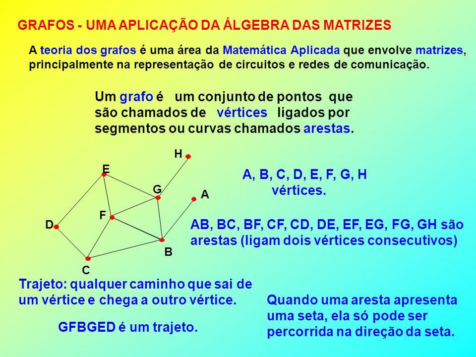 GRAFOS - UMA APLICAÇÃO DA ÁLGEBRA DAS MATRIZES