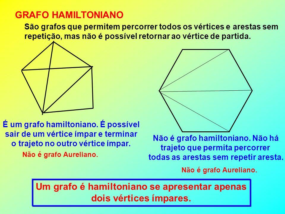 Um grafo é hamiltoniano se apresentar apenas dois vértices ímpares.