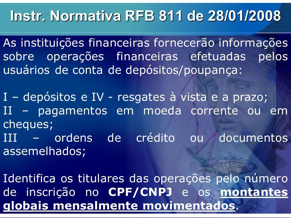 Instr. Normativa RFB 811 de 28/01/2008