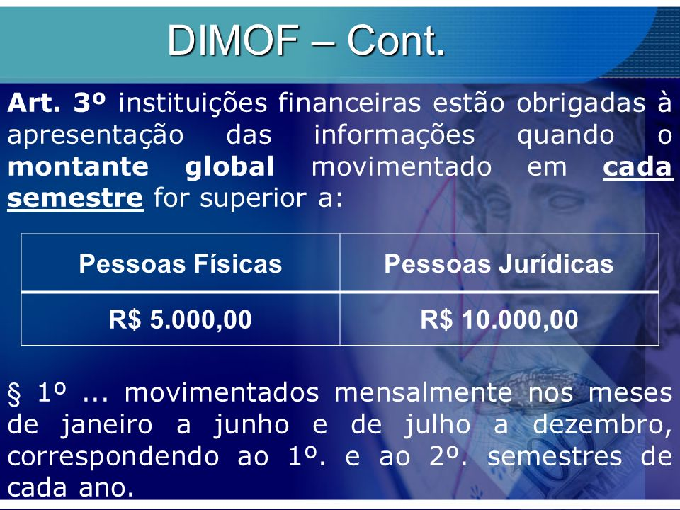DIMOF – Cont.
