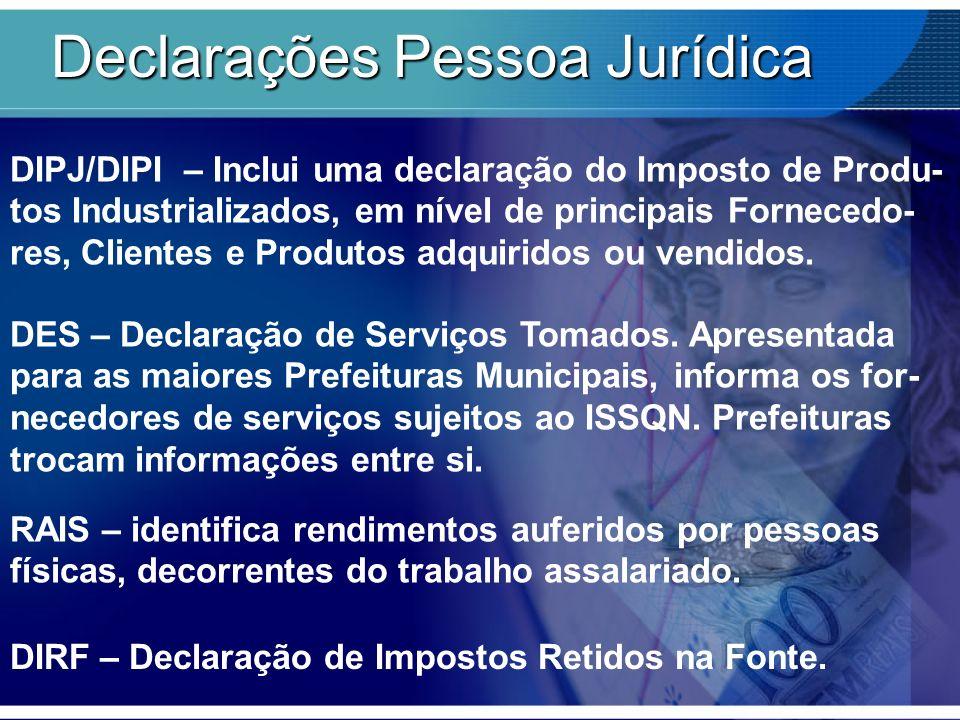 Declarações Pessoa Jurídica