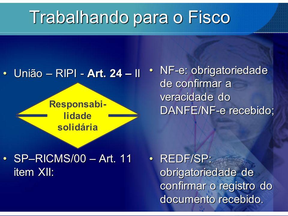 Trabalhando para o Fisco