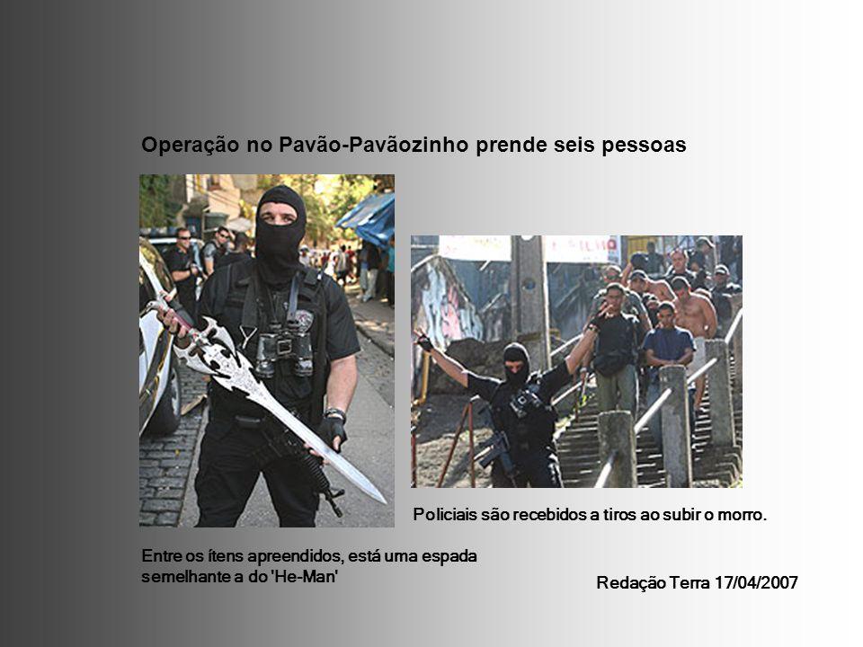 Operação no Pavão-Pavãozinho prende seis pessoas