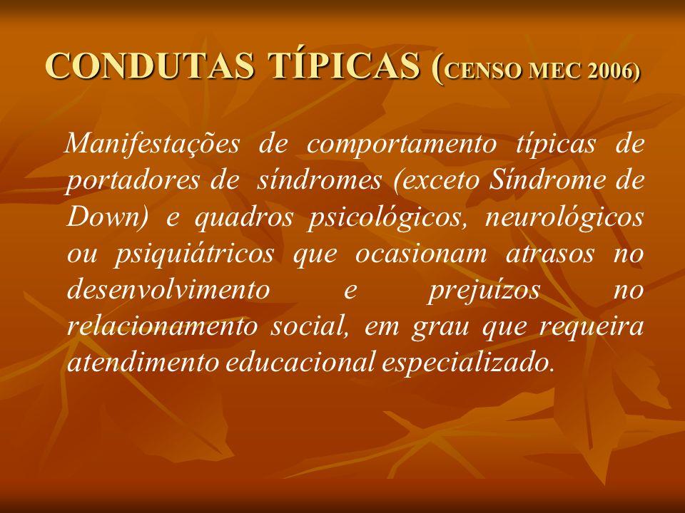 CONDUTAS TÍPICAS (CENSO MEC 2006)