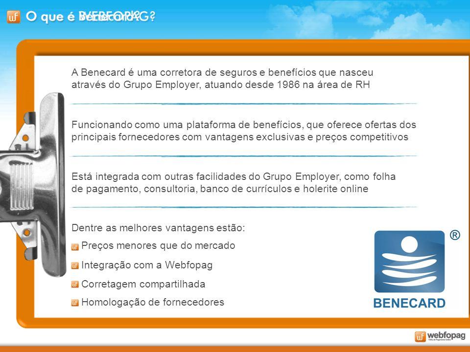 A Benecard é uma corretora de seguros e benefícios que nasceu através do Grupo Employer, atuando desde 1986 na área de RH