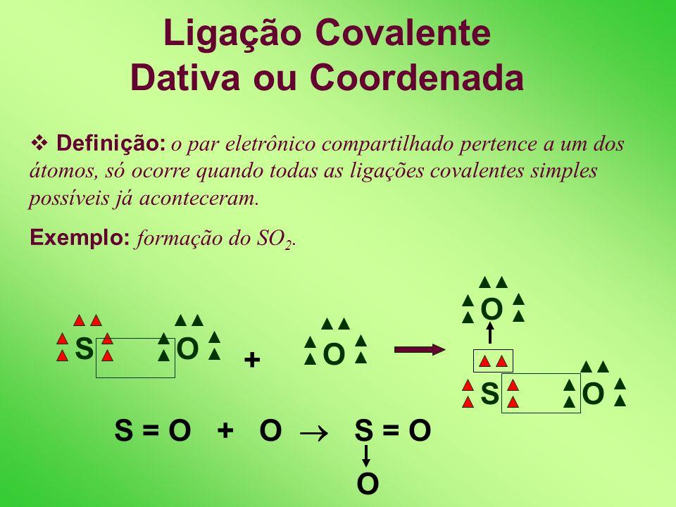 Ligação Covalente Dativa ou Coordenada