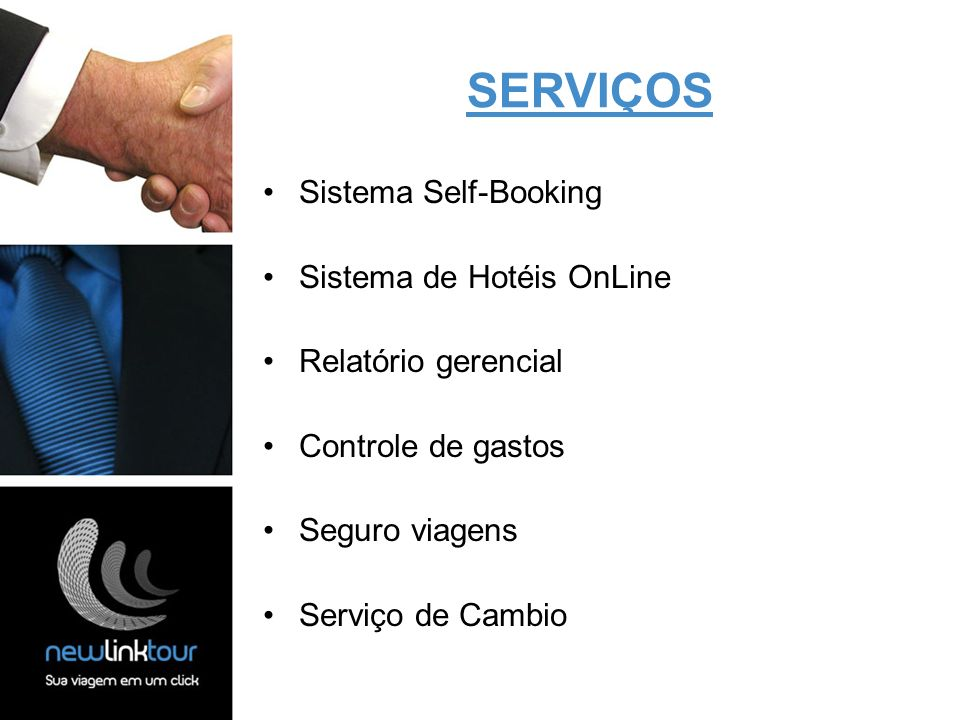 SERVIÇOS Sistema Self-Booking Sistema de Hotéis OnLine