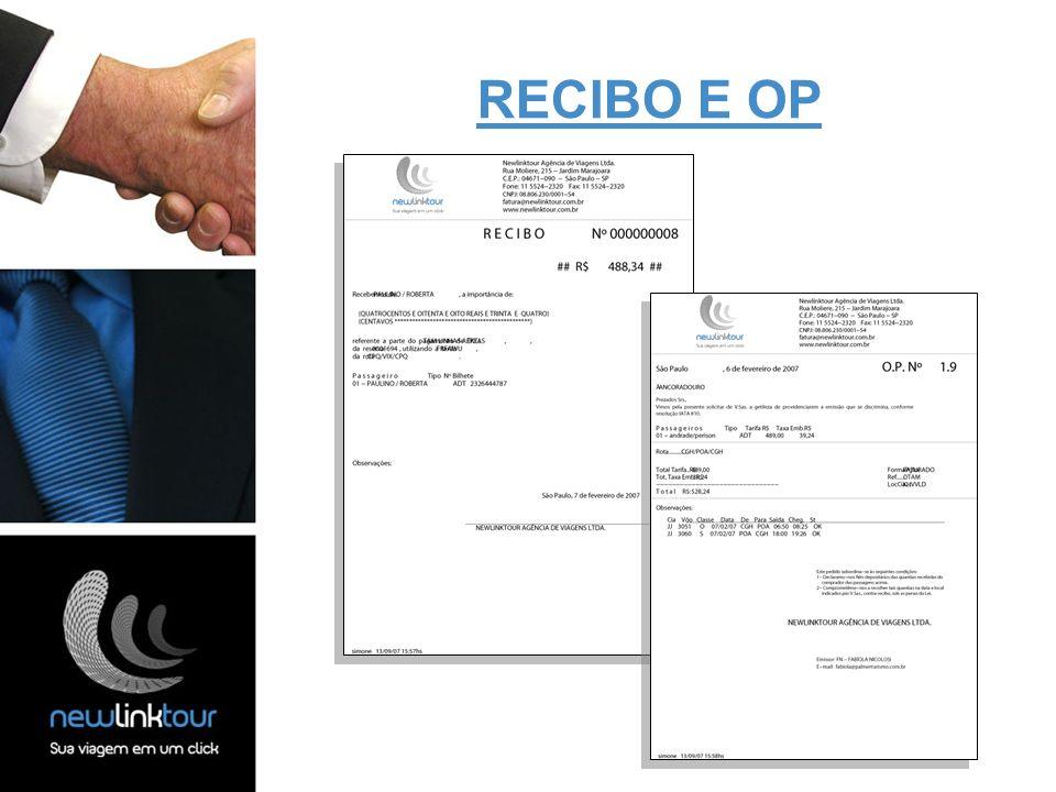 RECIBO E OP