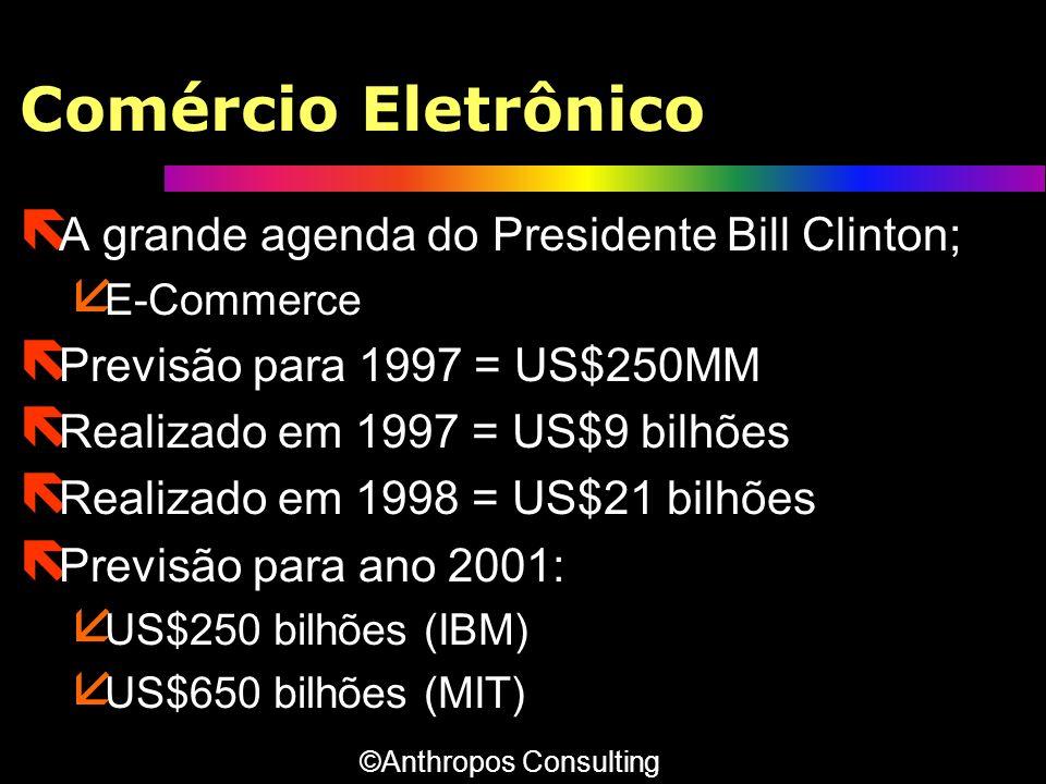 Comércio Eletrônico A grande agenda do Presidente Bill Clinton;