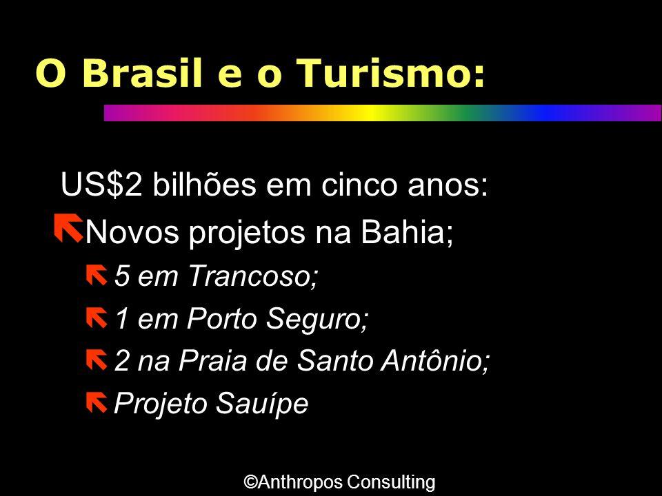 O Brasil e o Turismo: US$2 bilhões em cinco anos: