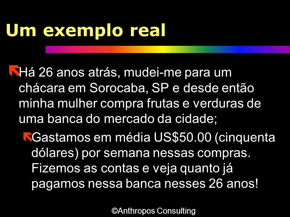 Um exemplo real