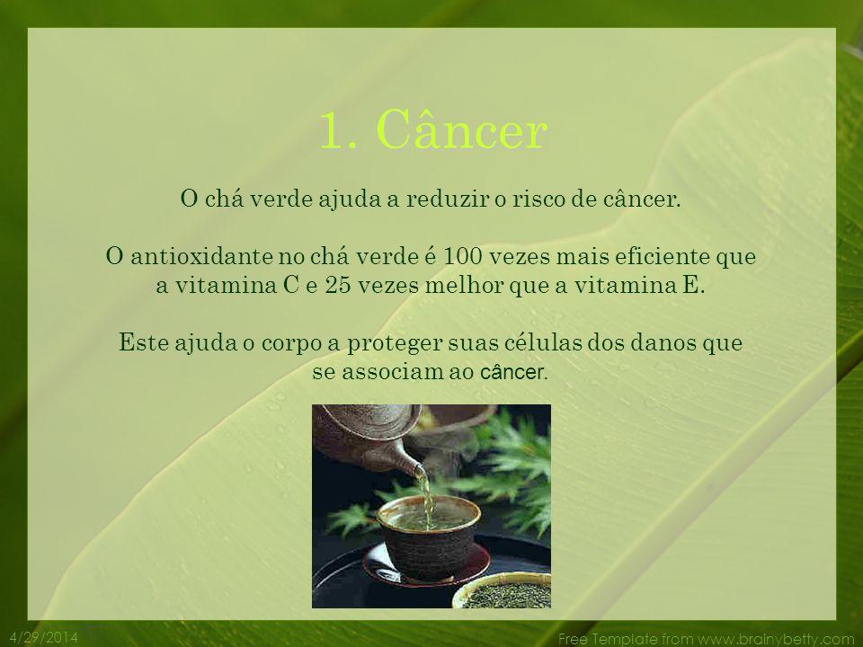 O chá verde ajuda a reduzir o risco de câncer.
