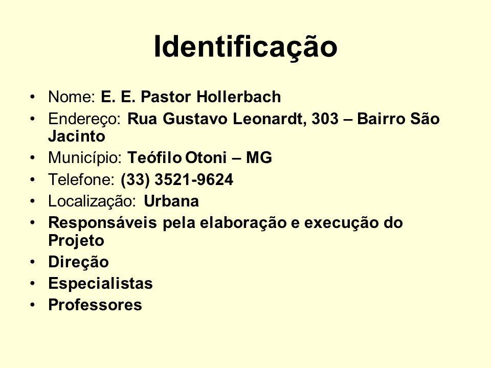 Identificação Nome: E. E. Pastor Hollerbach