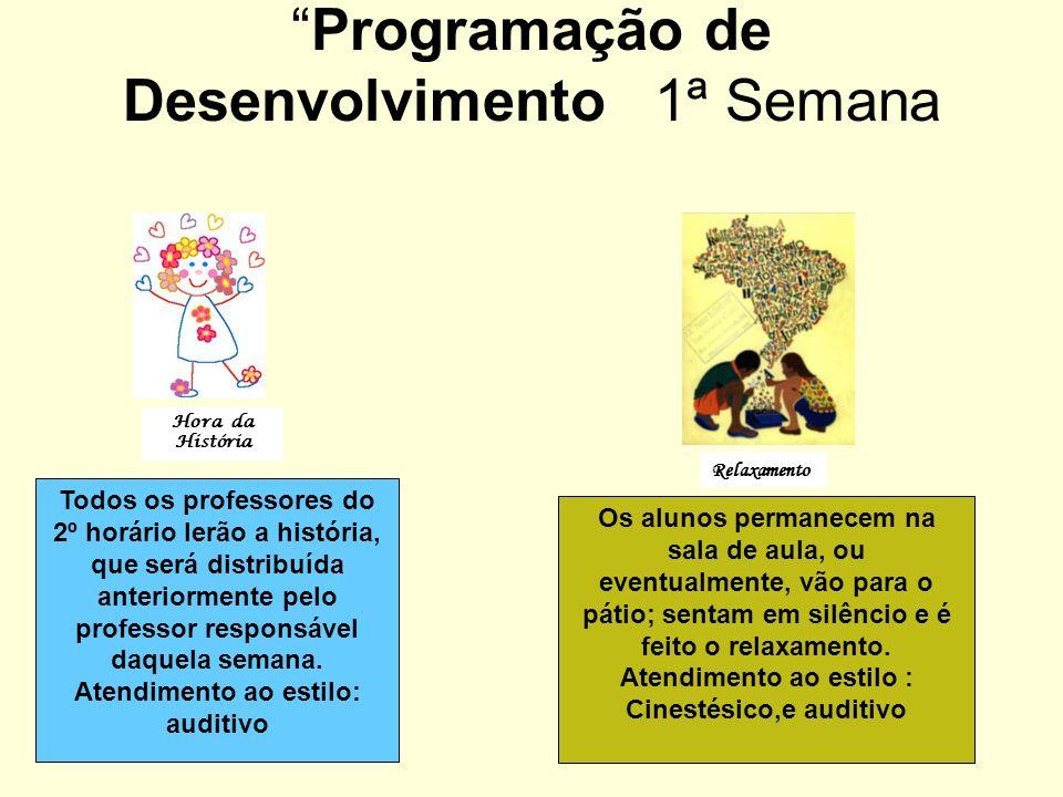 Programação de Desenvolvimento 1ª Semana
