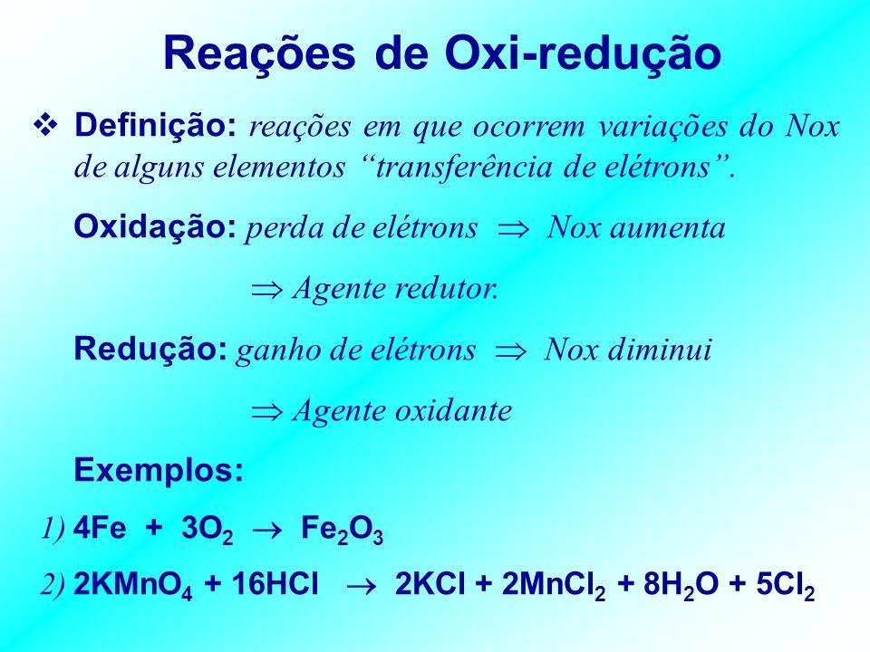 Reações de Oxi-redução