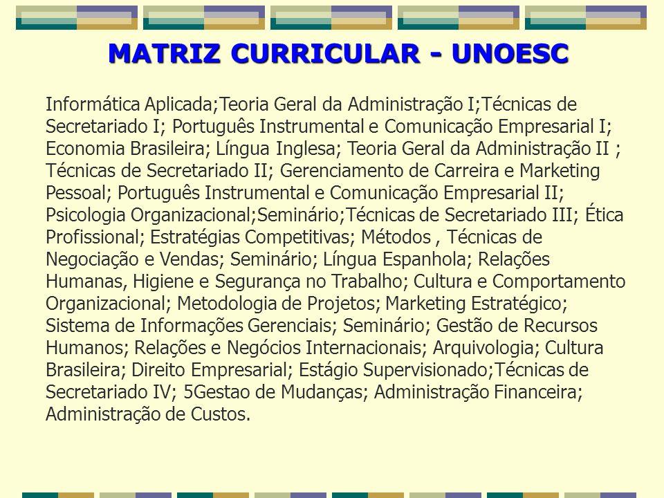 MATRIZ CURRICULAR - UNOESC