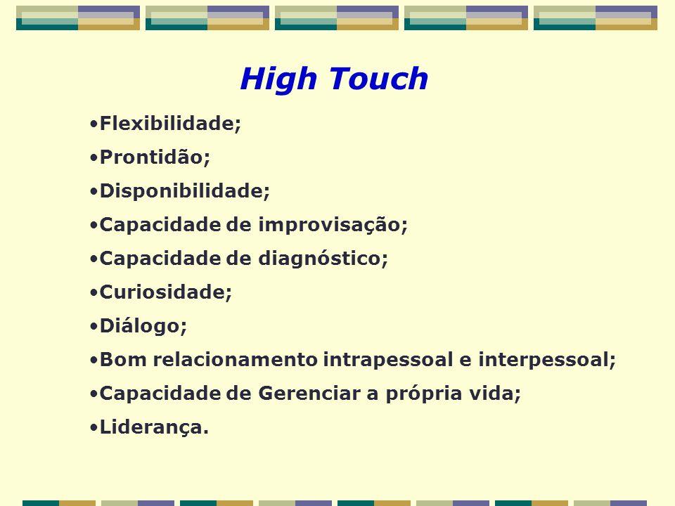High Touch Flexibilidade; Prontidão; Disponibilidade;