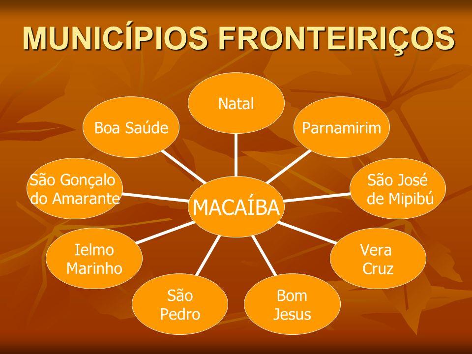 MUNICÍPIOS FRONTEIRIÇOS