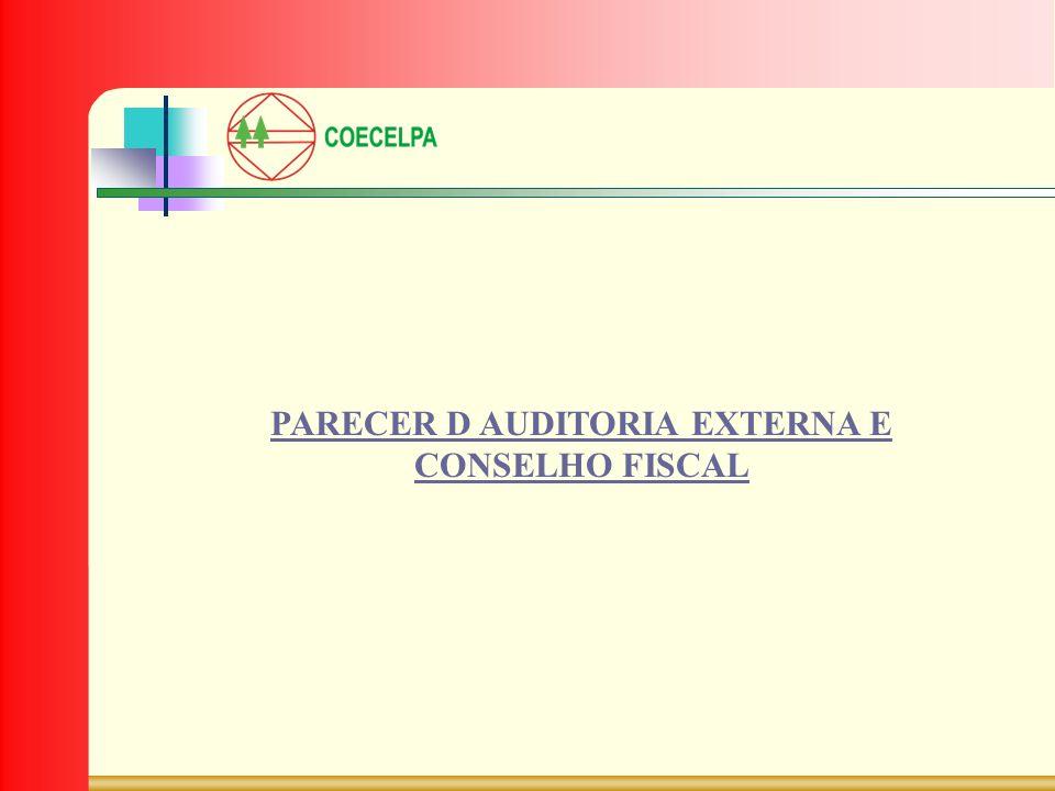 PARECER D AUDITORIA EXTERNA E CONSELHO FISCAL