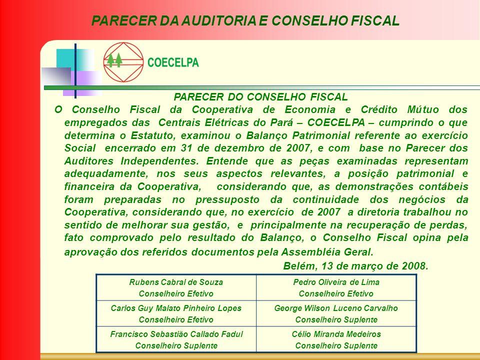 PARECER DA AUDITORIA E CONSELHO FISCAL