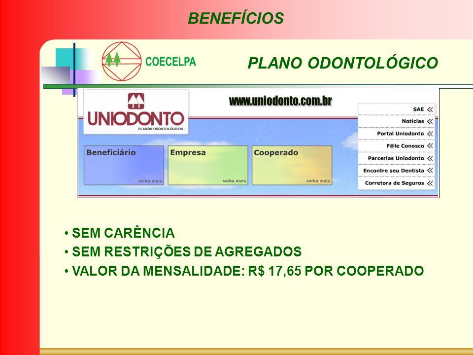 BENEFÍCIOS PLANO ODONTOLÓGICO