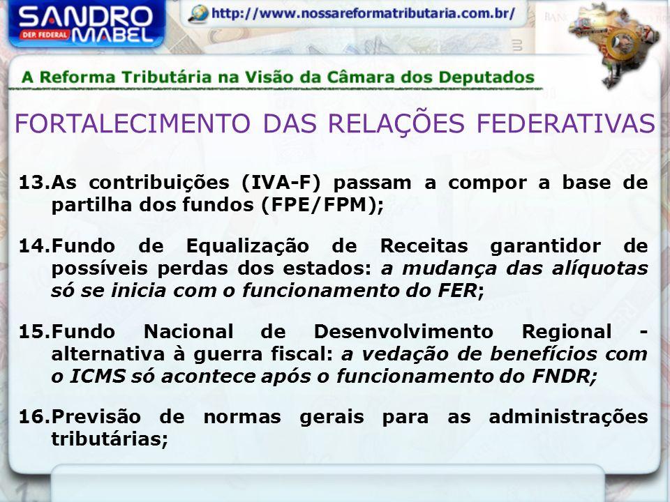 FORTALECIMENTO DAS RELAÇÕES FEDERATIVAS