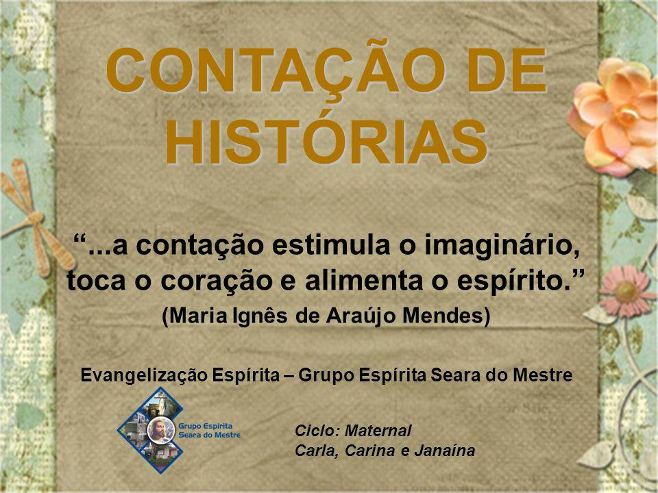 CONTAÇÃO DE HISTÓRIAS ...a contação estimula o imaginário, toca o coração e alimenta o espírito. (Maria Ignês de Araújo Mendes)
