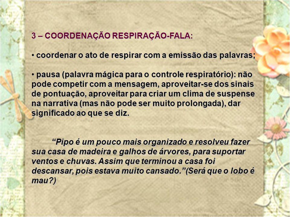3 – COORDENAÇÃO RESPIRAÇÃO-FALA: