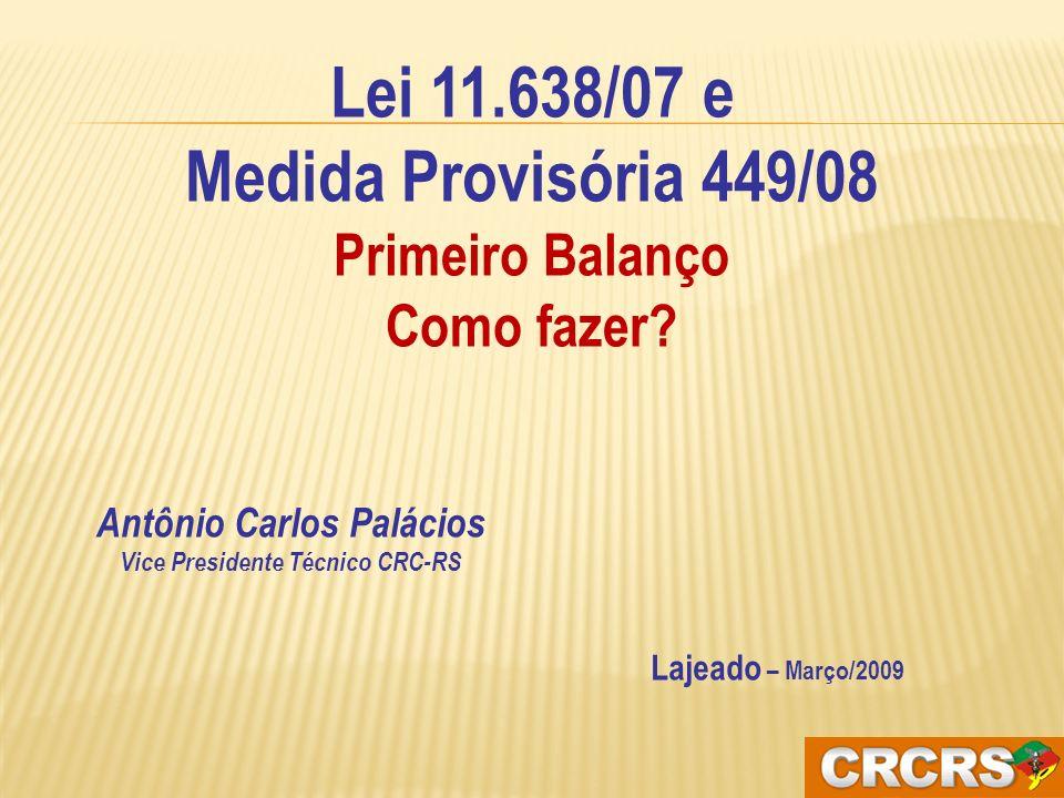 Antônio Carlos Palácios Vice Presidente Técnico CRC-RS