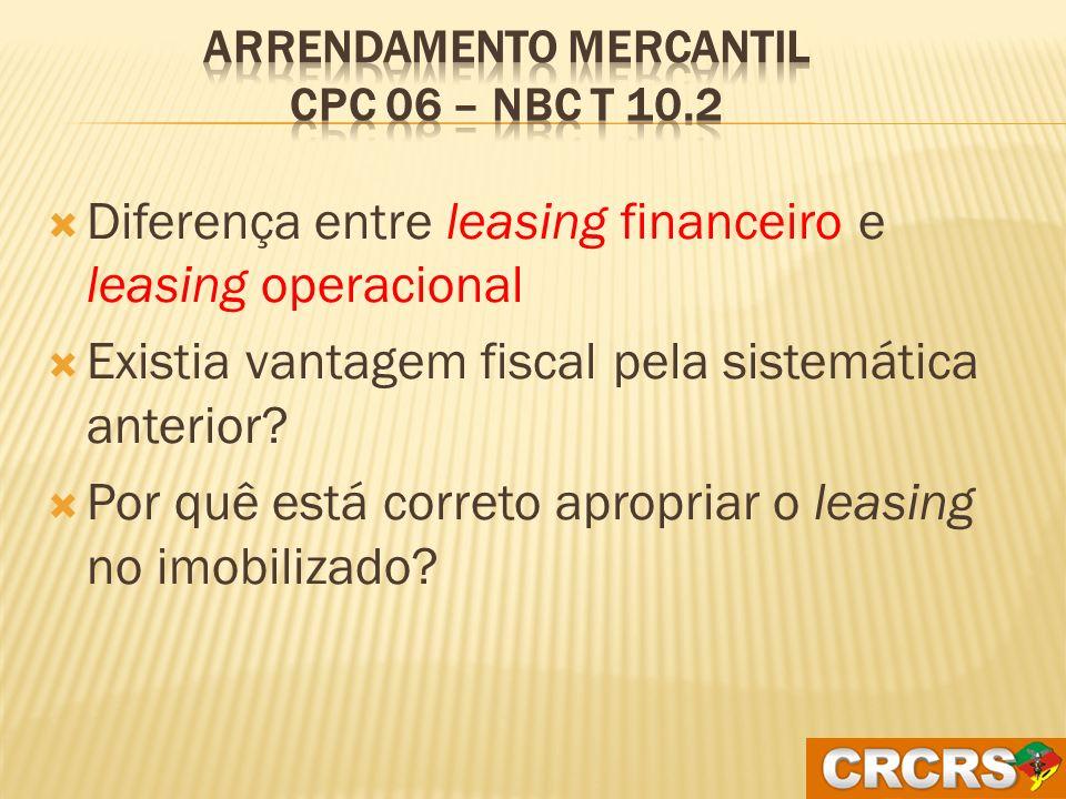 Arrendamento Mercantil CPC 06 – NBC T 10.2
