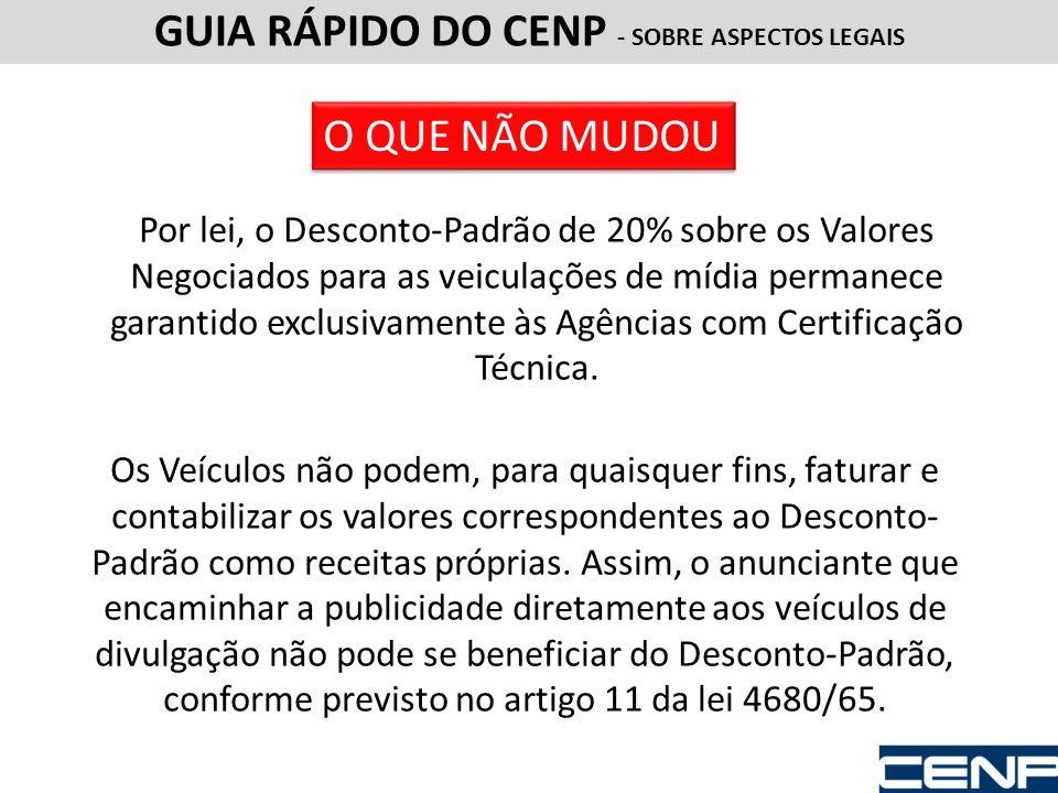 GUIA RÁPIDO DO CENP - SOBRE ASPECTOS LEGAIS