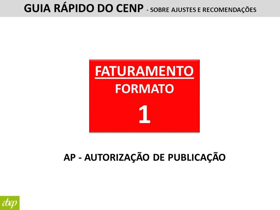 GUIA RÁPIDO DO CENP - SOBRE AJUSTES E RECOMENDAÇÕES