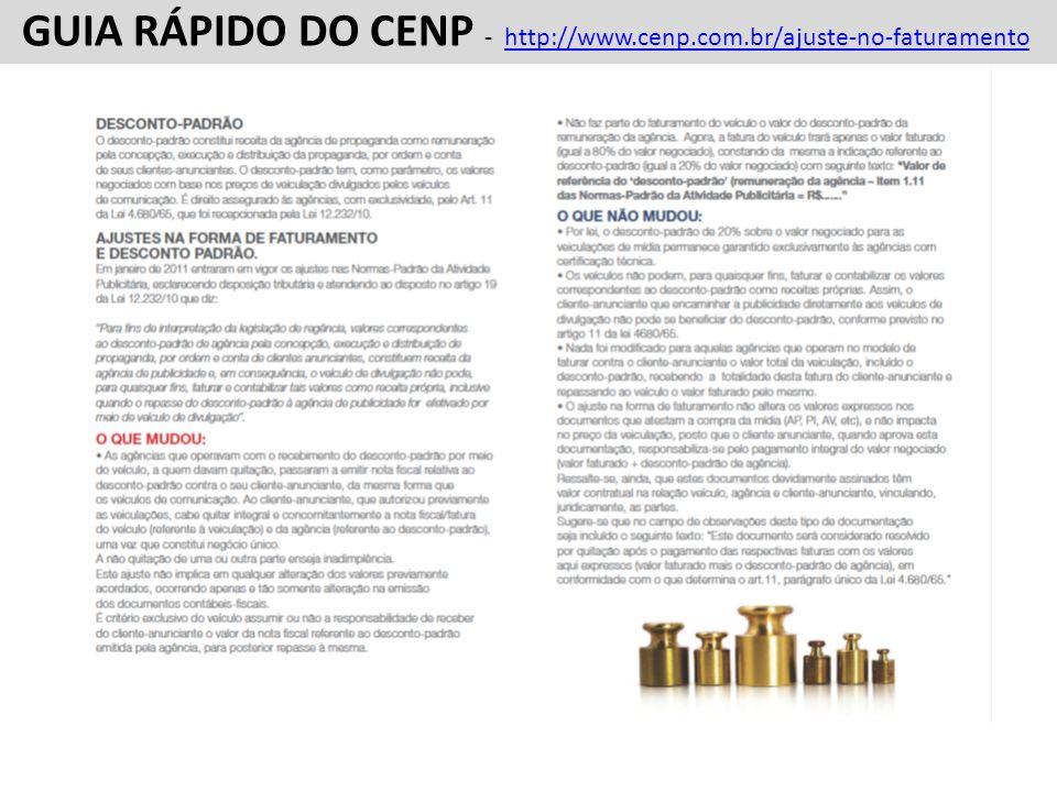 GUIA RÁPIDO DO CENP - http://www.cenp.com.br/ajuste-no-faturamento